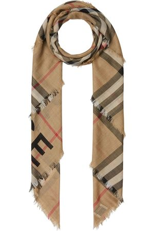Burberry Check print knitted scarf - Neutrals