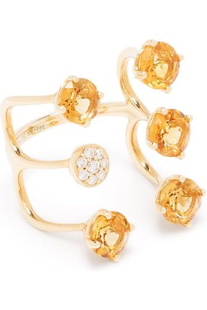 Stefere 18kt yellow diamond citrine Aurore ring