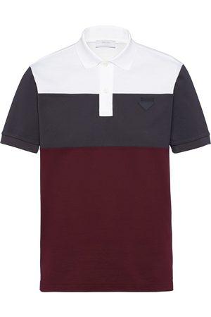 Prada Colour-block polo shirt