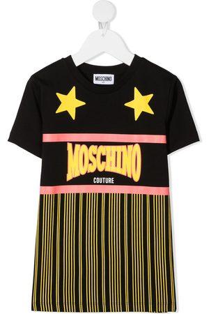 Moschino Logo print panelled T-shirt