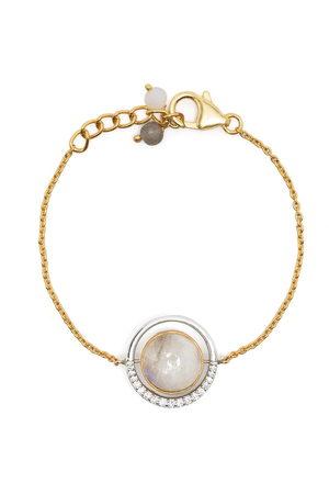 AKANSHA SETHI 14kt yellow diamond reversible Cloud bracelet