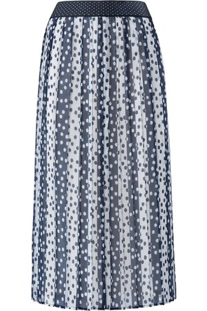 Basler Pleated skirt striped and dotted pattern size: 10
