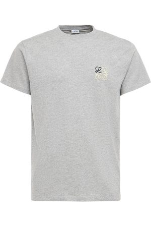 LOEWE Logo Embroidery Cotton Jersey T-shirt