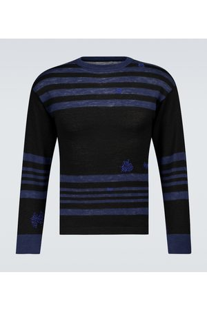 Maison Margiela Striped wool and linen sweater