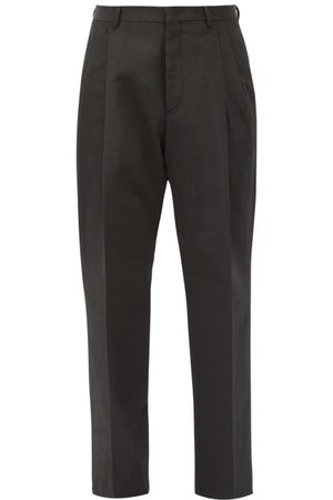 VALENTINO Cotton-blend Faille Straight-leg Trousers - Mens