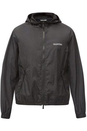 VALENTINO Hooded Logo-print Technical Windbreaker Jacket - Mens