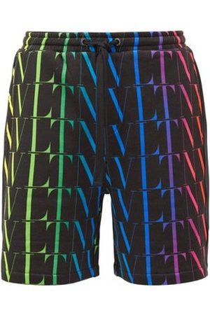 VALENTINO Logo-print Cotton-blend Jersey Shorts - Mens - Multi