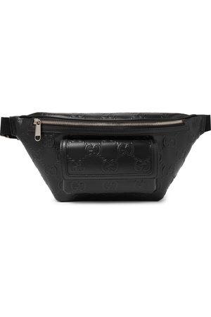 Gucci Men Belts - Logo-Embossed Perforated Leather Belt Bag