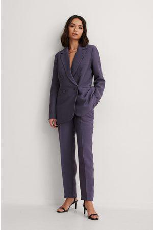 NA-KD Structured Suit Pants - Purple