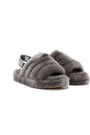 UGG Fluff Yeah Kids Dark Slippers