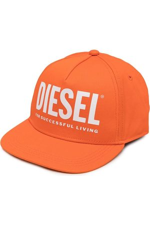 Diesel Kids Logo-print cotton cap