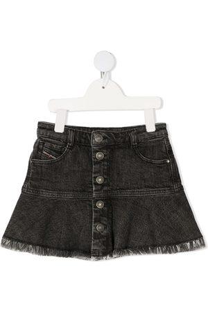Diesel Flounced denim mini skirt