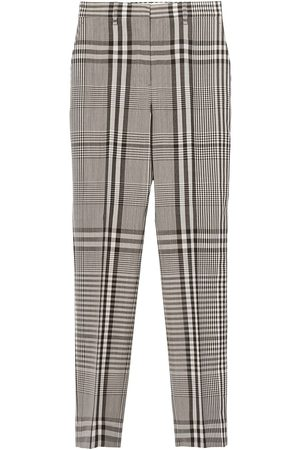 Burberry Straight-leg check trousers