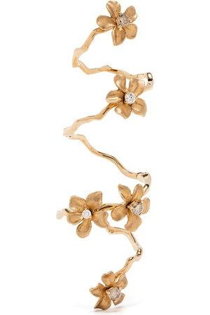 Stefere Women Rings - 18kt yellow diamond flower ring
