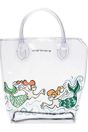 10 CORSO COMO Large mermaid-print transparent tote bag - Neutrals
