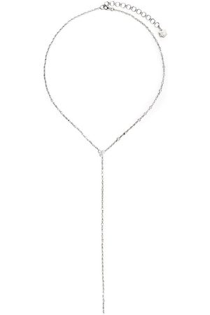 SHAY 18kt white gold diamond Infinity Y necklace