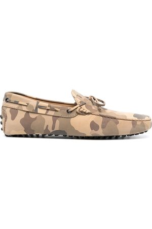 Tod's Camouflage-print City Gommino loafers - Neutrals