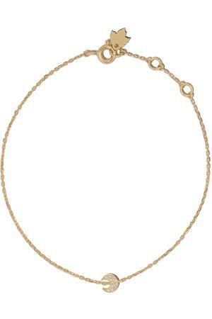Feidt Paris 18kt yellow diamond crescent moon charm bracelet