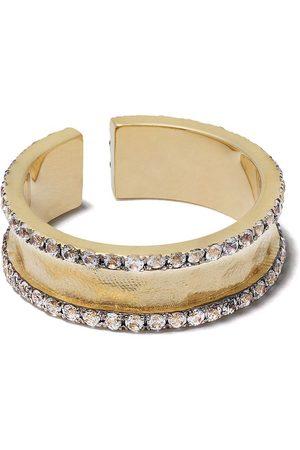 Feidt Paris 9kt yellow sapphire open band ring