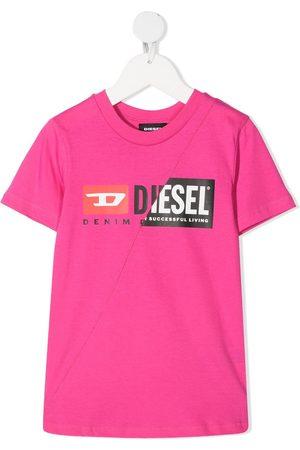 Diesel Kids Logo print T-shirt