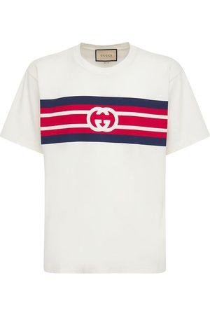Gucci Gg Print Cotton T-shirt