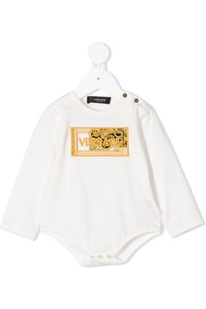 VERSACE Long Sleeve - Embroidered-logo long-sleeved body