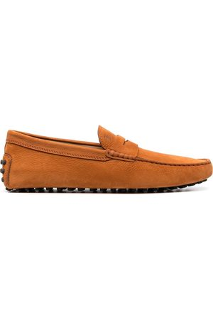 Tod's Square toe driving loafers