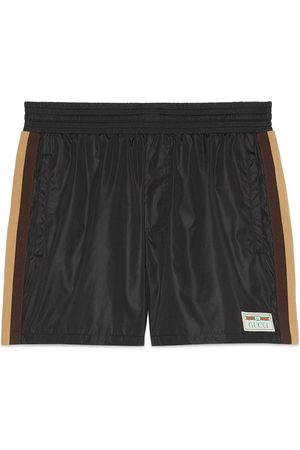 Gucci Men Swim Shorts - Swim shorts with label
