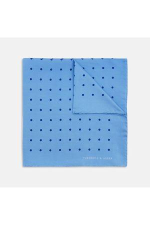 Turnbull & Asser Spot Silk Pocket Square