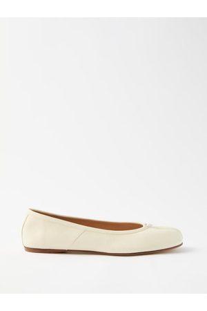 Maison Margiela Tabi Split-toe Leather Ballet Flats - Womens