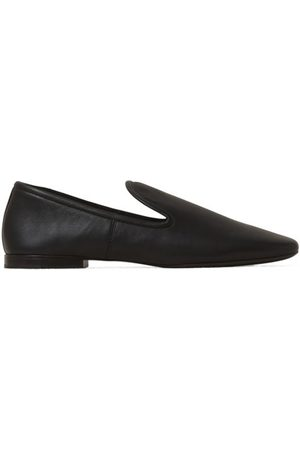 LEMAIRE Square-toe Leather Loafers - Womens
