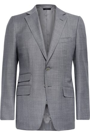 Tom Ford Men Blazers - O'Connor Slim-Fit Super 110s Sharkskin Wool Suit Jacket