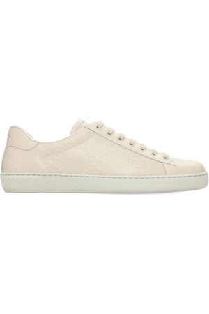 Gucci 15mm Gg New Ace Leather Sneakers