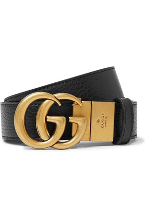 Gucci Men Belts - 3.5cm Logo-Detailed Full-Grain Leather Belt