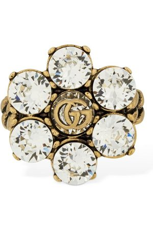 Gucci Women Rings - Gg Marmont Thick Ring W/ Crystal