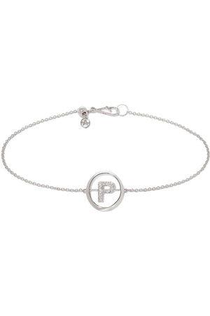 Annoushka 18kt white gold diamond P Initial bracelet