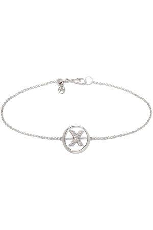 Annoushka 18kt white gold diamond Initial X bracelet