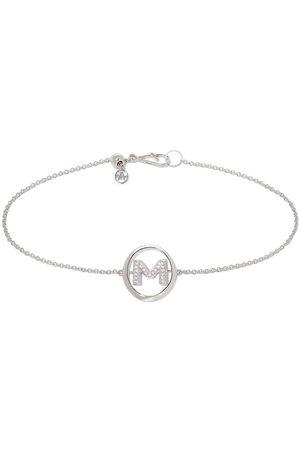 Annoushka 18kt white gold diamond Initial M bracelet