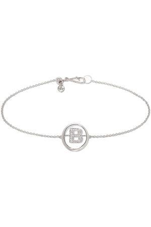 Annoushka 18kt white gold diamond Initial B bracelet