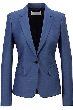 HUGO BOSS Regular-fit jacket in micro-patterned virgin wool