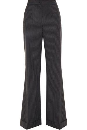 Dolce & Gabbana Women Wide Leg Trousers - Woman Wide Leg Pants Charcoal Size 36