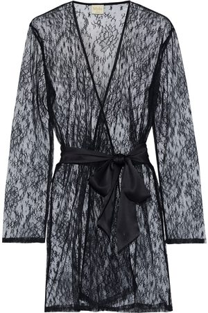 MYLA Woman Darling Row Belted Chantilly Lace Robe Size M/L