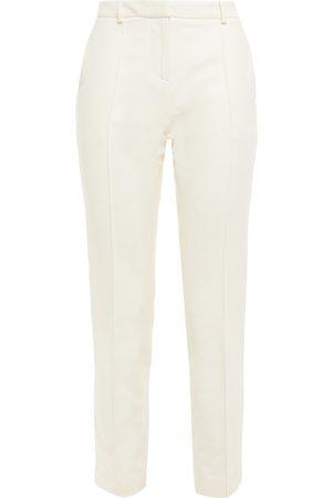 Vanessa Bruno Women Skinny Trousers - Woman Slim Leg Pants Cream Size 34