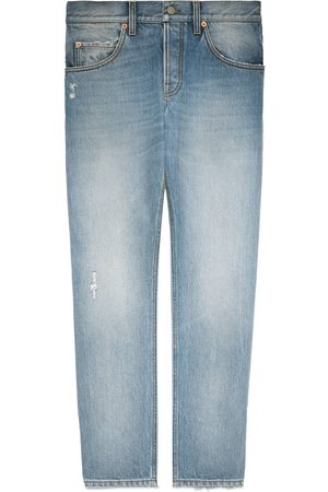 Gucci Tapered eco bleached denim pant