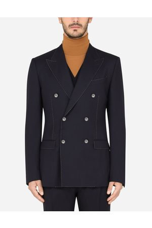 Dolce & Gabbana Men Summer Jackets - Coats and Blazers - DOUBLE-BREASTED CASHMERE TAORMINA-FIT JACKET male 46