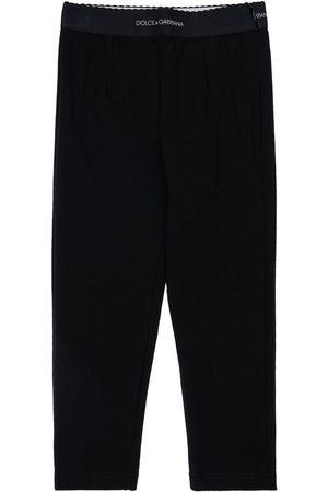 Dolce & Gabbana Cotton Blend Interlock Leggings