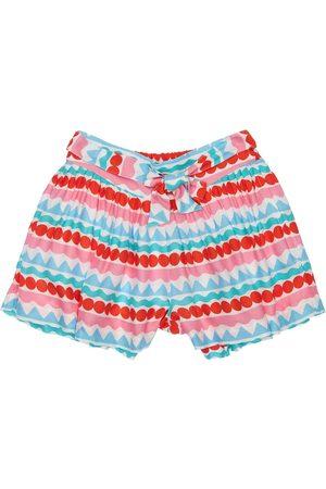 Stella McCartney Girls Shorts - Printed Viscose Twill Shorts