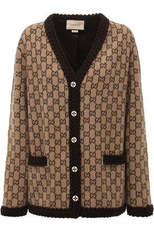 Gucci Logo Wool Knit Cardigan