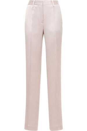 OFF-WHITE Wrinkled Satin Formal Wide Pants