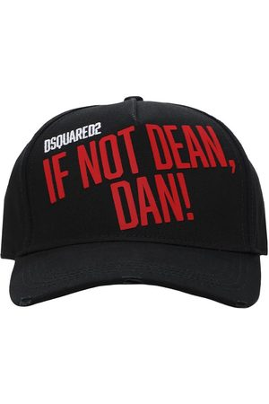 Dsquared2 If Not Embro Cotton Gabardine Cap